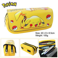 Pokemon Pikachu student zipper Pencil Case box Phone Bag pen Purse  Pocket Pouch