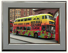 "NEW ROUTEMASTER ""RED BULL CULTURE CLASH"" BUS  7"" X 5"" FRAMED PHOTOGRAPH (WSF03P)"