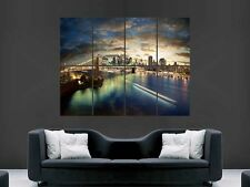 BROOKLYN BRIDGE POSTER NEW YORK USA PRINT ART WALL PICTURE GIANT HUGE