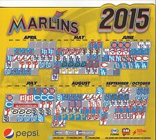 2015 Miami Marlins Magnet Schedule