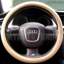 BEIGE PVC LEATHER Steering Wheel Cover VOLVO S40 S60 S70 S80 S90 V40 V50 V70 V90