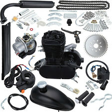 49CC 50CC 2 Cycle Petrol Gas Engine Motor Kit for Motorized Bicycle Bike Black