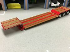 1/64 DCP RED FONTAINE RENEGADE TRI AXLE STRETCH LOWBOY TRAILER