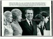 1972 Richard Nixon and Family Accept Nomination Original New Service Photo