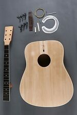 MAKE YOUR OWN FULL SIZE 6 STRING D DREADNOUGHT ACOUSTIC GUITAR DIY KIT