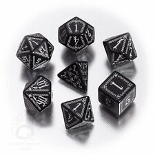 Q-workshop 7 Dice Set of Black & Silver Pathfinder Carrion Crown SPAT37
