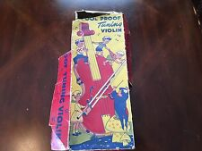 Vintage Tin Toy Violin in box