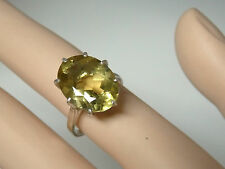 9ct natural lemon quartz 925 sterling silver ring size 6 USA made