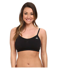 ADIDAS SEAMLESS 3-IN-1 SPORTS WIRELESS BRA BLACK SOLID #S24898 LARGE NEW! $30