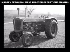 MASSEY FERGUSON MF95 TRACTOR OPERATION MANUAL for MF 95 Service Tuning & Repair