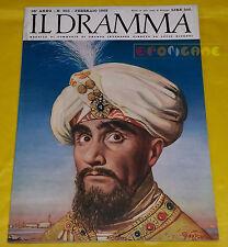 IL DRAMMA 1962 n. 305 - Copertina Romano Gazzera - Opere: vedi inserzione