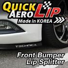 Front Bumper Spoiler Chin Lip Splitter Valence Trim Body Kit for All Vehicles