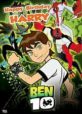 - BEN 10 - IDEAL FOR SON NEPHEW  PERSONALISED CHILDREN'S BIRTHDAY CARD