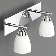 Bad Lampe Chrom  LED möglich, Design Badleuchte Spiegelleuchte Wandleuchte