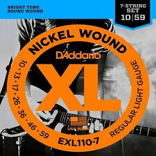 D'Addario EXL110-7 XL Electric Guitar Strings Regular Light 10-59 for 7 String