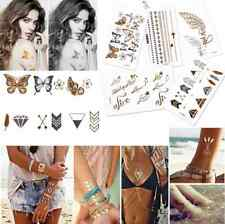 8PCS per Lot Fashion  Art Flash Waterproof Temporary Tattoos Stickers