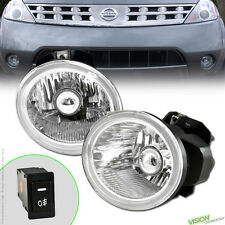 Crystal Clear Lens Front Bumper Fog Lights+Switch Kit PT For 05-07 Nissan Murano