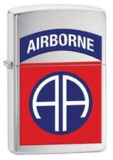 Zippo 29181 US Army 82nd Airborne Brushed Chrome New In Box Lighter
