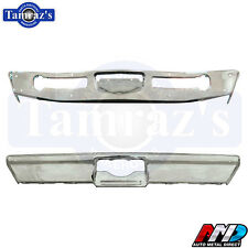 1968-1969 Coronet Super Bee Front & Rear Bumper Set Triple Chrome Plated AMD