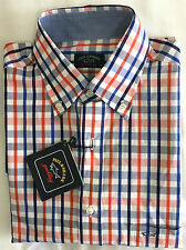 ** Originale ** Paul & Shark Yachting Uomo Check Camicia Taglia. M/039 -- e13p0363 170