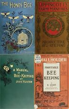 100 BOOKS ON BEE KEEPING, BEES, HONEY, HIVE, WAX, RECIPES, SUIT SWARM ON DVD