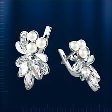 Russisches Silber Ohrringe mit Perlen SO2481