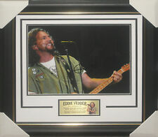 EDDIE VEDDER - PEARL JAM - SIGNED & FRAMED 11x14 PHOTO - JAMES SPENCE JSA Y84926