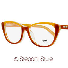Fendi Oval Eyeglasses F1002 249 Size: 52mm Light Havana/Clear 1002