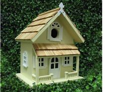 Home Bazaar Victorian Yellow Bird House Cottage Wood Birdhouse Wooden NEW s Box