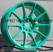XXR 527 17X9.75 Rims 4x100/114.3mm +25 Wasabi Wheels Aggressive Fits 4 Lug 240sx