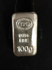100g Hand Poured 999 Silver Bullion Bar by Yeagers Poured Silver YPS
