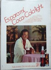 JULIO IGLESIAS =  1 page 1985  SPANISH CLIPPING !!! (Coca Cola Light advert)