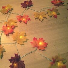 Autumn Leaves Fairy Lights  LED Battery Fall Leaf Garland *Easter* *Wedding*