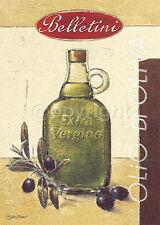 Björn Baar: Olio di Oliva Belletini Küche Cafe Fertig-Bild 50x70 Wandbild
