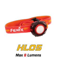 Fenix HL05 White+RED LED CR2032 Headlamp Mini Portable Multifunctional Headlight