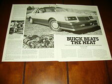 McLAREN BUICK GRAND NATIONAL CONCEPT CAR 1986  ***ORIGINAL VINTAGE ARTICLE***