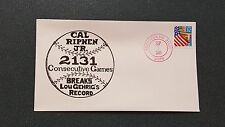 Lot of (10) Cal Ripken Breaks Lou Gehrig Consecutive game record First Day Cover