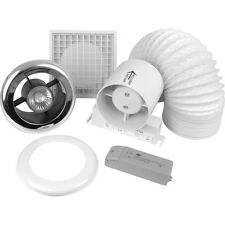 New 100mm Inline Shower Extractor Fan Kit with Light Each