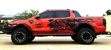 MATT MATTE BLACK TIGER MUD DESIGN STICKER FORD RANGER T6 12 13 14