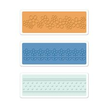 Sizzix Textured Impressions Embossing Folders 3PK - Flowers & Dots Set  660393
