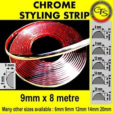 9mm CHROME CAR STRIP MOULDING TRIM ADHESIVE MITSUBISHI PAJERO SHOGUN SAVRIN