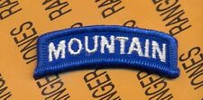 US Army 10th MOUNTAIN Division tab scroll arc patch m/e