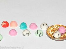 5pc Miniature dollhouse tiny flatback Christmas ice cream scoop candy food 5-6mm