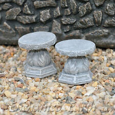 NEW FAIRY GARDEN  STOOL SET/MINIATURE GARDEN / SET OF 2 MINI RUSTIC STOOLS