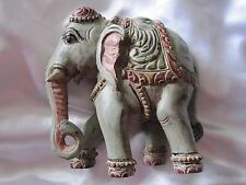 """Exotic Vintage India Elephant Resin Statue 6"""" Tall"""
