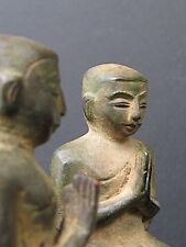 Paire d'Antques Orants de Temple en Bronze, BIRMANIE