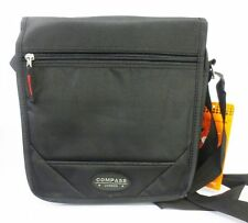 SD47-BK Black Flapover Shoulder bag By Compass £9.99