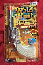 Wild West Die-Cast Metal Pistol Western Cowboy Toy CAP GUN -uses roll caps NEW