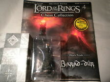 Eaglemoss Lord Of The Rings Chess Set 1 - Issue 4 Barad Dur - black rook