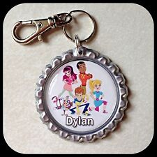 Personalized FRESH BEAT BAND OF SPIES Bottle Cap Pendant Name Zipper Pull  ID